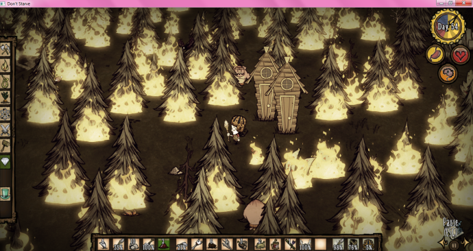 In a recent playthrough, I got bored and set an entire forest on fire.