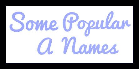 PopularANames-Blue