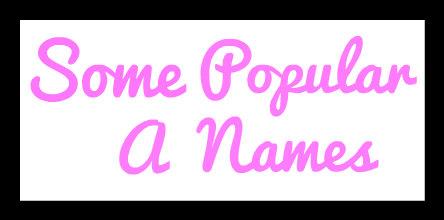 PopularANames-Pink
